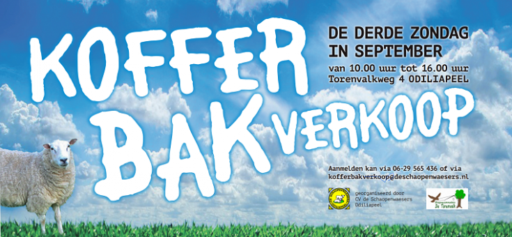 Kofferbakverkoop 19 september