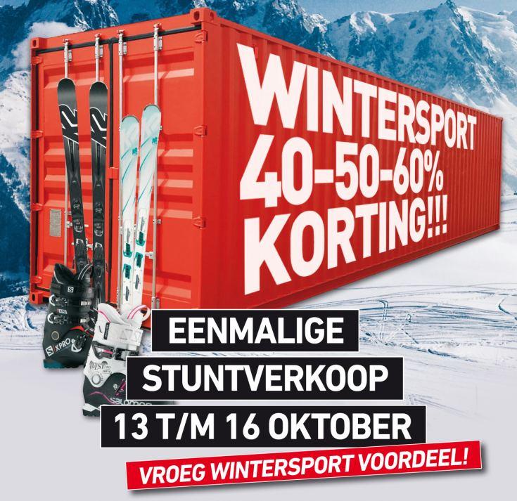Wintersport container stuntverkoop 0